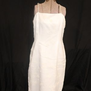 White formal gown with jacket train Sz. 14 (II0527